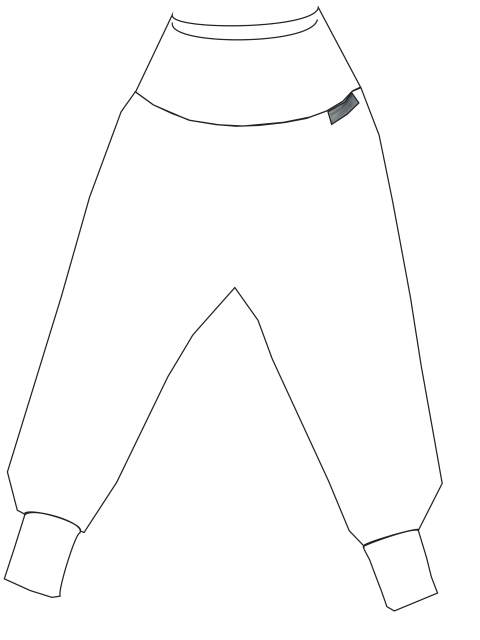 Sweathose ohne Taschen